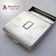 Match Book Cover Hinged Arts and Crafts William Kerr Hammered Sterling Silver 1910 No Monogram