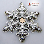 SALE Gorham Christmas Ornament Snowflake Sterling Silver 1982
