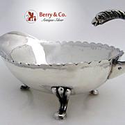 Eagle Handle Gravy Boat Mexican Sterling Silver 1950 No Monogram