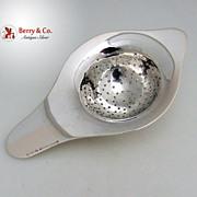 German Arts and Crafts Tea Strainer 800 Standard Silver Wilhelm Binder 1900
