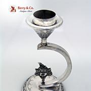 Unusual Persian Silver Candlestick 1900