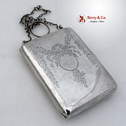 Ladies Sterling Silver Purse / Compact Blackington 1900