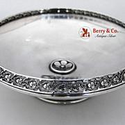 Rosette Open Work Border Bowl Sterling Silver 1890