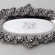 Ornate Repousse Pin Tray Gorham Sterling Silver 1890