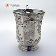 Octagonal Coin Silver Cup 1850