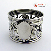Open Work Napkin Ring Sterling Silver Gorham 1865