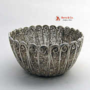 Filigree Bowl Solid Silver 1900