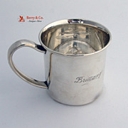 Baby Cup Teddy Bear Bottom Lunt Sterling Silver