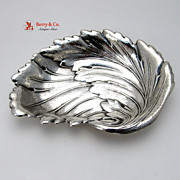 Leaf Form Serving Bowl International Sterling Silver 1940