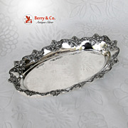 Poppy Bread Tray Shreve Open Work Sterling Silver 1900 No Monogram