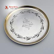 Wild Grape Presentation Plate Sallie Mama Papa Dec 28 1868 JR Wendt Sterling Silver