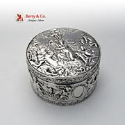 Cherub Musicians Box Hanau 800 Silver 1890 No Monograms