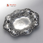 SALE Sterling Silver Serving Bowl Poppy Decorations Whiting 1900