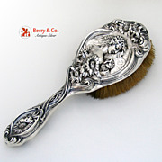 SOLD He Loves Me Hair Brush Unger Brothers Sterling Silver 1904