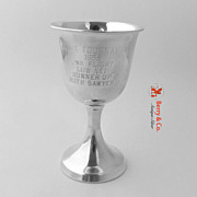 Golf Trophy Goblet Western Golf Association Amateur 1958 Sterling Silver