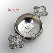 Antique Arts and Crafts Tea Strainer Galt Brothers Sterling Silver 1900