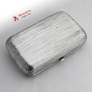 Antique Russian 84 Silver Cigarette Case 1881