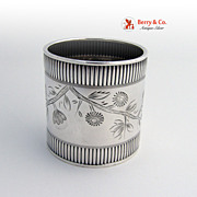 Coin Silver Napkin Ring Wood and Hughes 1880