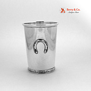 SALE PENDING Official Kentucky Derby Mint Julep Cup Horseshoe  Sterling Silver BWK 1960