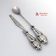 Astronaut Bar Set Double Jigger Knife Spoon Opener 1970 Silverplate