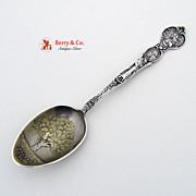 California Souvenir Spoon Oakland Oak Tree Bowl Meyer Sterling Silver 1895