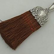 Scroll Foliate Floral Whisk Broom Alvin Sterling 1900