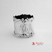 Scroll Edge Napkin Ring Sterling Silver Gorham 1900