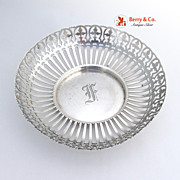 Ornate Open Work Round Serving Bowl Sterling Silver Whiting 1910