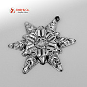 Christmas Snowflake Ornament Gorham Sterling Silver 1970