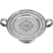 Handled Compote Sterling Silver Scroll Engraved Bailey Banks and Biddle 1900