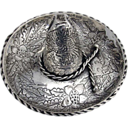SOLD Mexican Sombrero Dish J Vigueras 1925 900 Silver