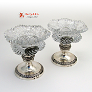 German Open Salts Crystal 813 Silver 1850