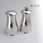 Art Moderne Pepper Mill Salt Shaker Alvin Sterling Silver 1950