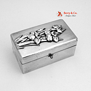 Bisansha Box Razor Box Traveling Kit Sterling Silver High Relief Orchids