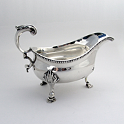 SOLD Georgian Silver Gravy Boat Sterling Silver Walter Brind London 1779
