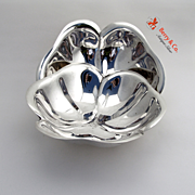 Pair of Clover Leaf Bowls Sterling Silver Reed and Barton 1941