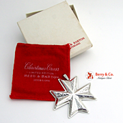 Christmas Ornament Snowflake Cross Sterling Silver Reed and Barton 1977