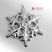 Christmas Ornament Snowflake Sterling Silver Gorham 1991