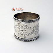 Coin Silver napkin Ring 1875