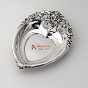 Grande Baroque Heart Bowl Dish Wallace Sterling Silver 1941