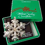Gorham Christmas Ornament Sterling Silver 1985