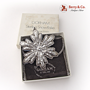 Christmas Snowflake Ornament Gorham Sterling Silver 1974
