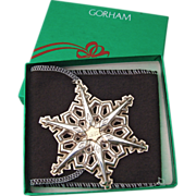 Gorham Christmas Ornament Sterling Silver 1983