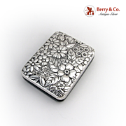 Key Case Repousse Sterling Silver Gorham