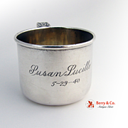 Baby Juice Cup Sterling Silver Lunt 1950
