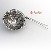 Tea Strainer Spout Sterling Silver Simon Brothers