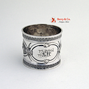 Napkin Ring Sterling Silver Wood and Hughes