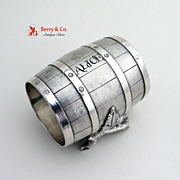 Barrel Shape Napkin Ring Silverplate 1880