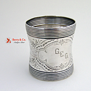 Napkin Ring Reeded Edge Coin Silver 1880