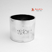 Simple Napkin Ring Gorham Sterling Silver 1875